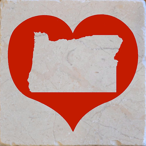 Red Heart Oregon Silhouette Coaster