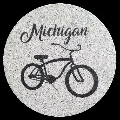 Car Coaster 2-Pack - Michigan Bike