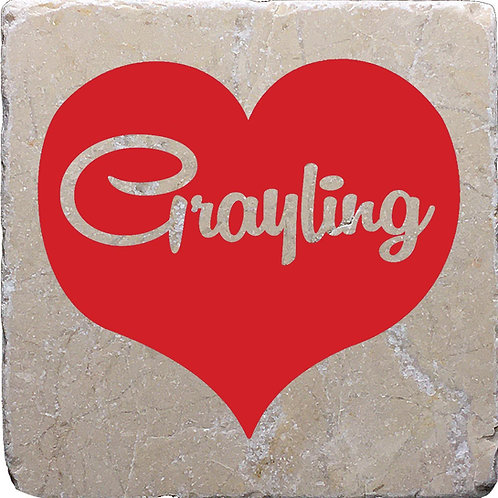 Grayling Red Heart Coaster