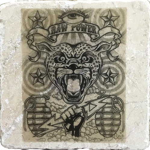 Raw Power by Mark Arminski Coaster