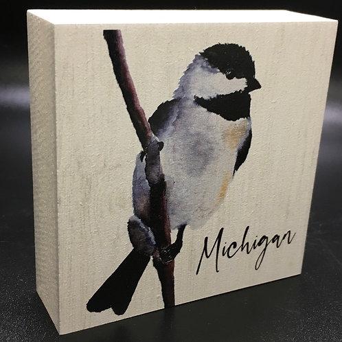 Chickadee Front Art Block