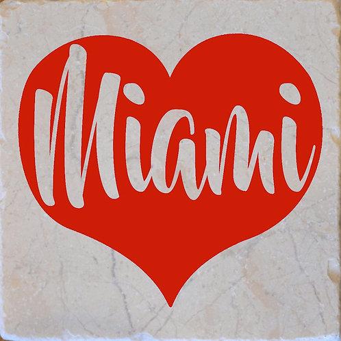 Red Heart Miami Coaster