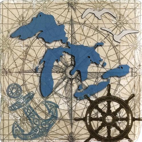 Nautical Great Lakes Coaster