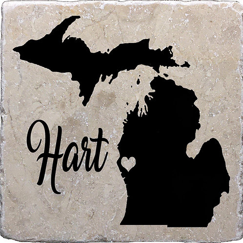 Hart Michigan Coaster