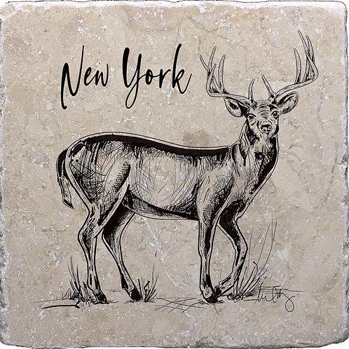 New York Hand Drawn Buck Coaster