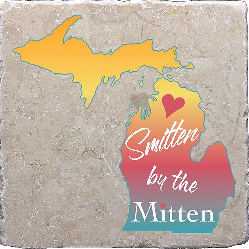 Smitten by the Mitten Michigan Coaster