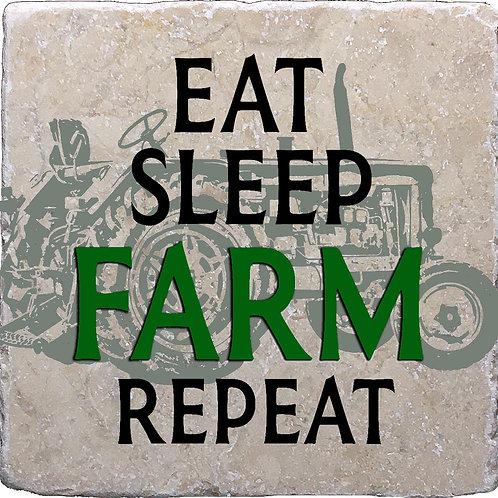 Eat Sleep Farm Repeat Coaster
