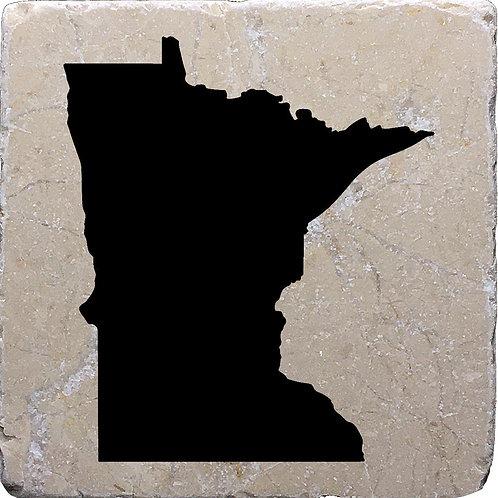 Minnesota Silhouette Coaster