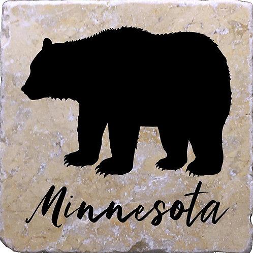 Minnesota Bear Coaster