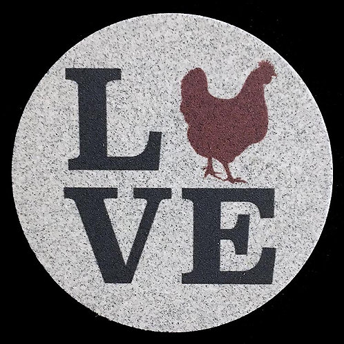 Car Coaster 2-Pack - Love Chickens Farm Series