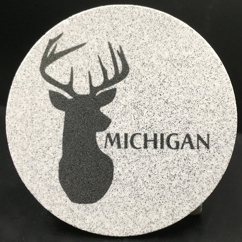 Car Coaster 2-Pack - Michigan Buck