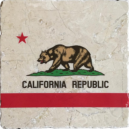 California Flag Coaster in Color