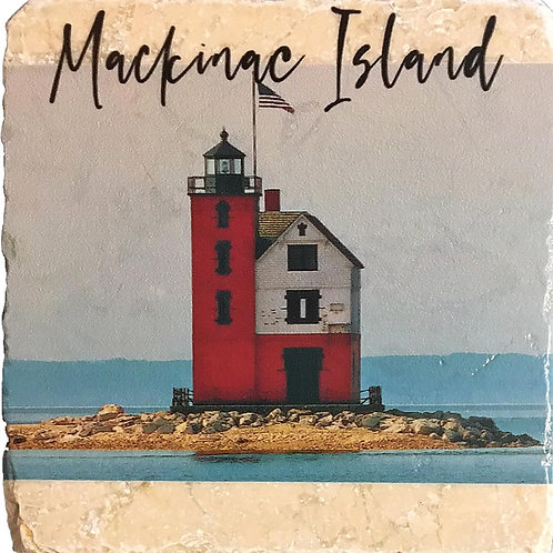 Mackinac Island Round Island Lighthouse Coaster
