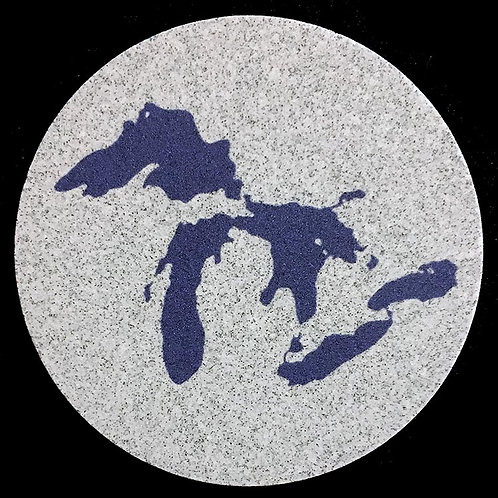 Car Coaster 2-Pack - Michigan Great Lakes