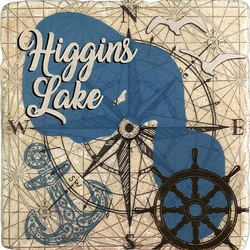 Nautical Higgins Lake Coaster