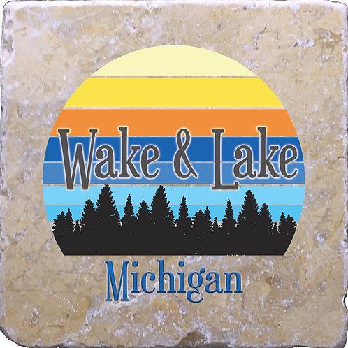 Wake & Lake Coaster