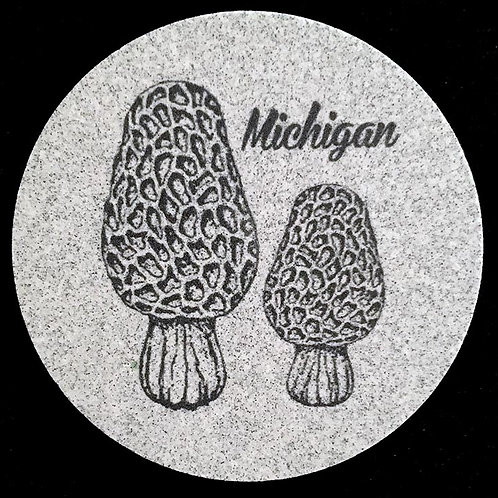 Car Coaster 2-Pack - Michigan Morels