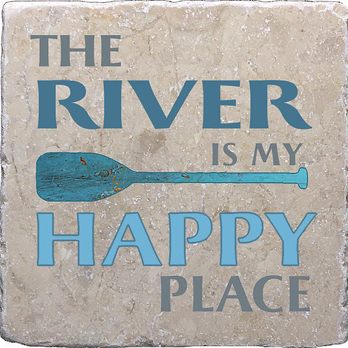 The River is my Happy Place Coaster