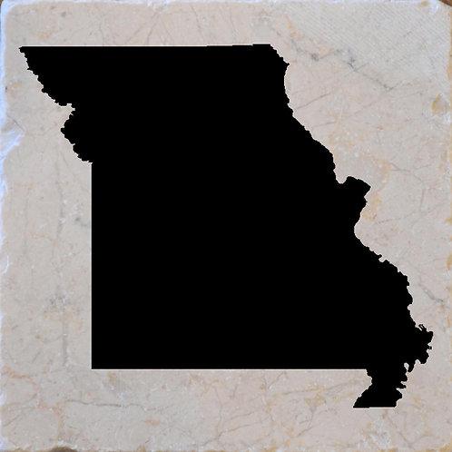 Missouri Silhouette Coaster
