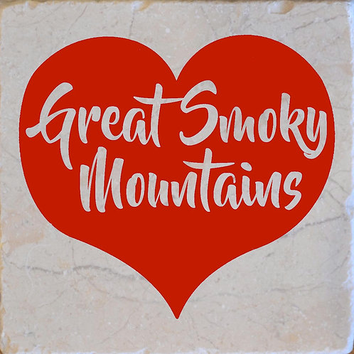 Red Heart Great Smoky Mountains Coaster