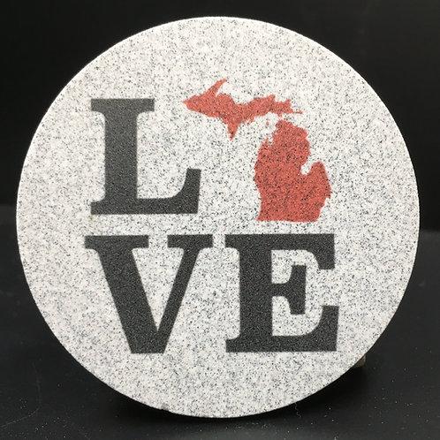 Car Coaster 2-Pack - Michigan Love