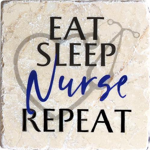 Eat Sleep Nurse Repeat Coaster