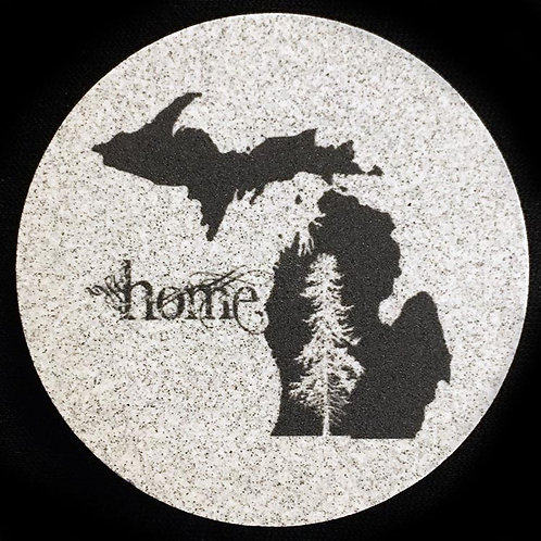Car Coaster 2-Pack - Michigan Home Tree