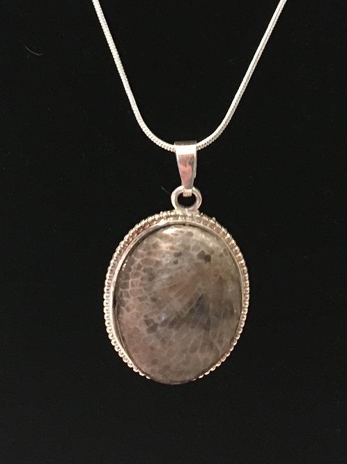 Petoskey Stone Oval Necklace