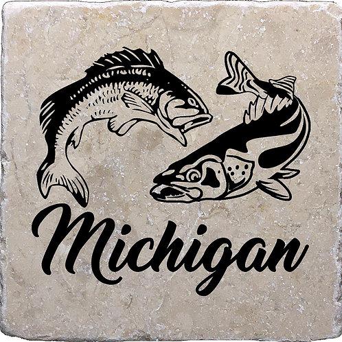 Michigan Fish Coaster (Trout & Salmon)
