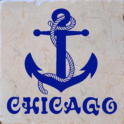Chicago Anchor 1 Coaster
