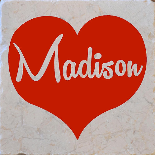 Madison Heart Coaster