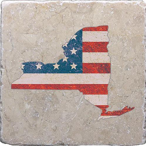 American Flag New York Coaster