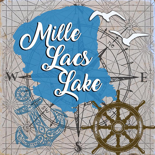 Mille Lacs Lake Nautical Coaster