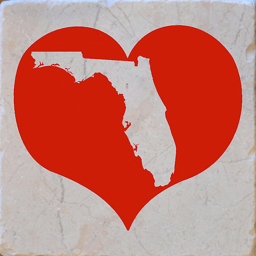 Red Heart Florida Silhouette Coaster