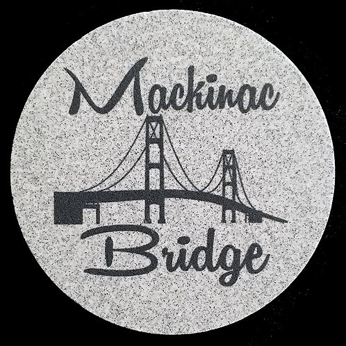 Car Coaster 2-Pack - Michigan Mackinac Bridge