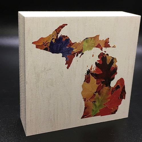 Michigan Fall Art Block