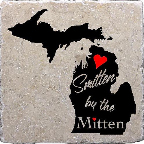 Smitten by the Mitten Michigan Coaster