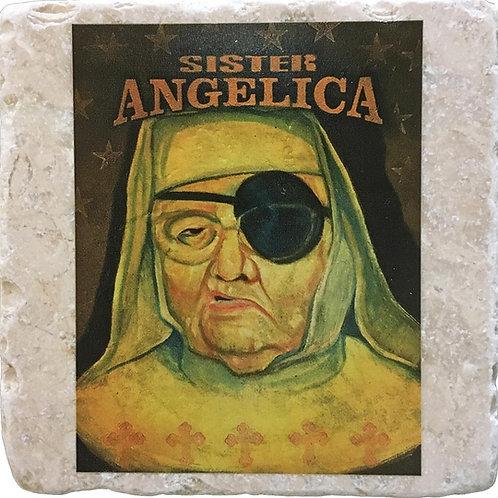 Sister Angelica by Mark Arminski Coaster