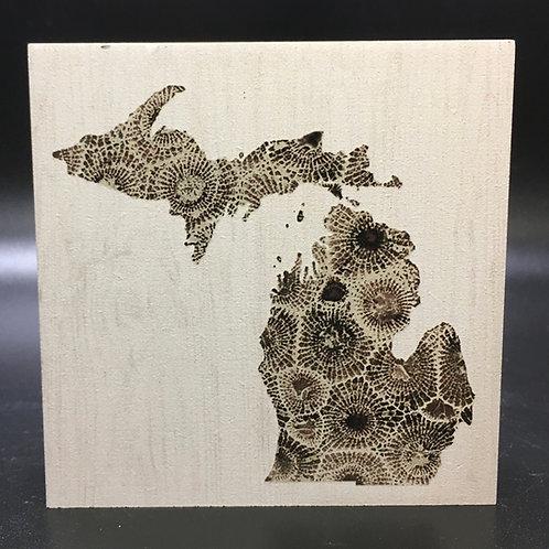 Petoskey Stone Michigan Art Block