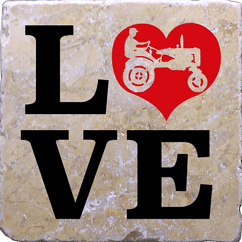 LOVE Tractors Coaster