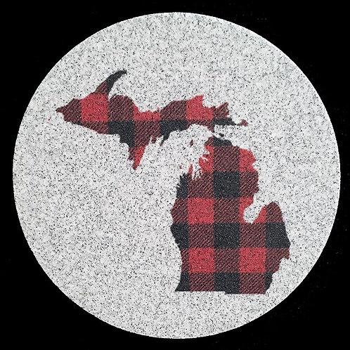 Car Coaster 2-Pack - Michigan Buffalo Plaid