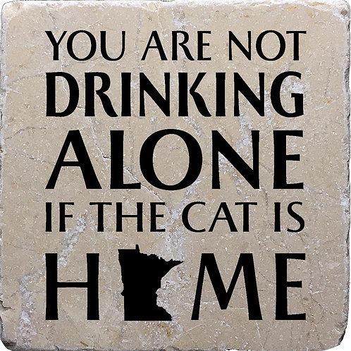 Drinking Cat Minnesota Coaster