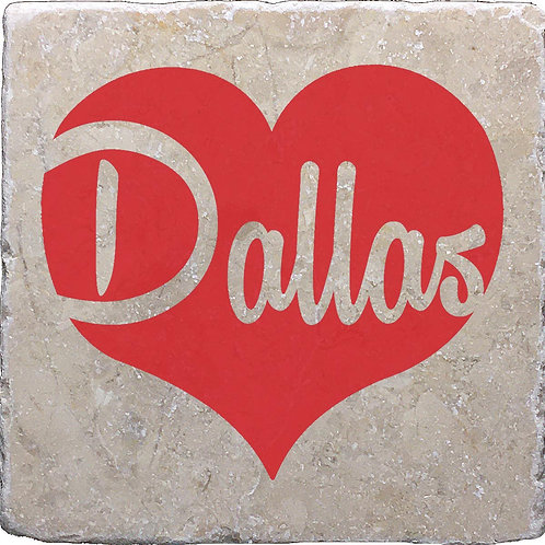 Dallas Red Heart Coaster
