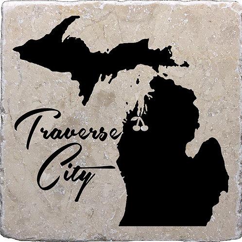 Traverse City Cherry Michigan Coaster