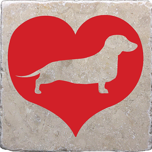 Red Heart My Dog (Various Breeds) Coaster