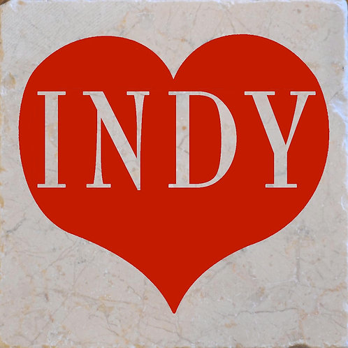 Red Indy Heart Coasters