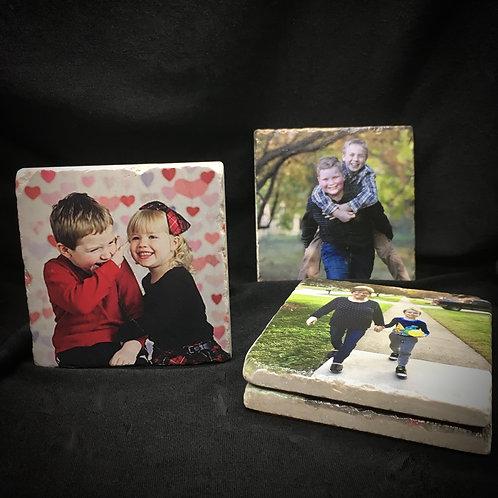 """Set of 4 Different Photos"" Coaster Set of 4"