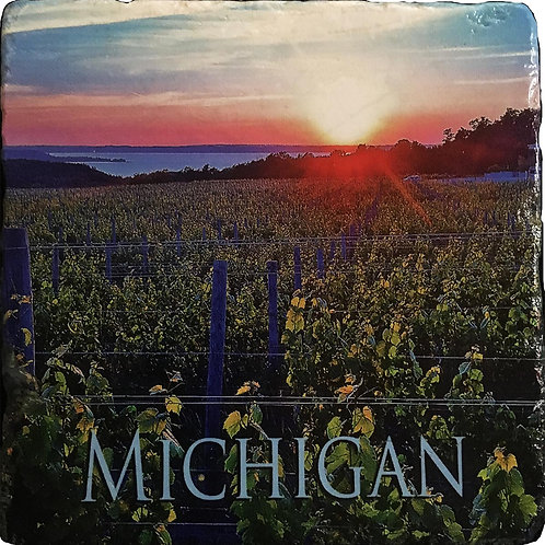 Michigan Vineyard Coaster