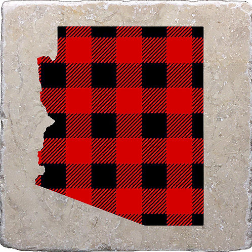 Buffalo Plaid Arizona Coaster