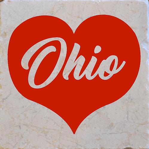Red Heart Ohio Coaster